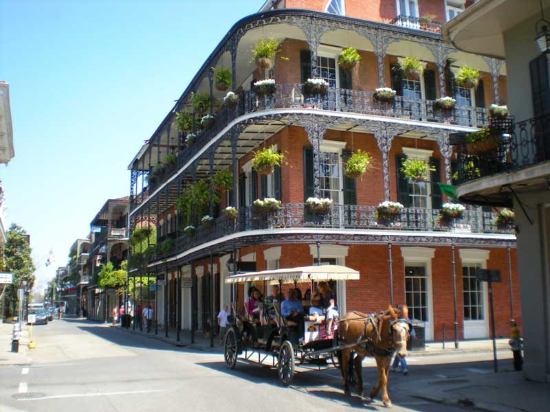 Le « French Quarter » © Wikimedia Commons