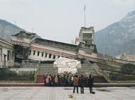 Circuit sur les ruines du tremblement de terre au Sichuan, Chine