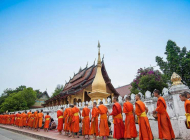 Rituel du Tak Bat dans les rue de Luang Prabang © Laos Tourism