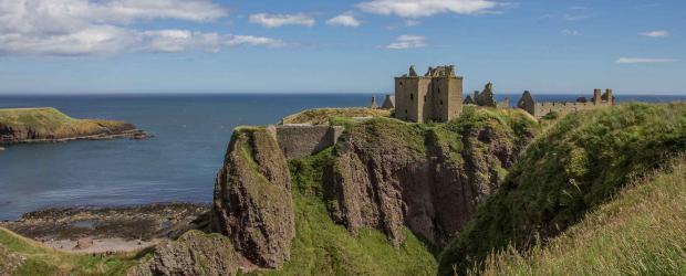 Le château de Dunnottar en Ecosse