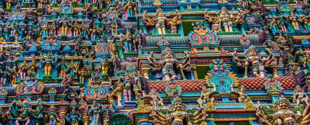 Detail du Gopura du Sri Meenakshi Temple