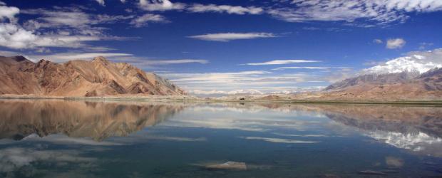 Vue sur le lac Karakul