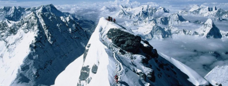 Sir Edmund Hillary, ami des Sherpas au Népal dans l'Himalaya