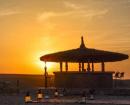 camp coucher de soleil