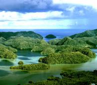 Archipel des Palaos à l'est de l'Indonésie