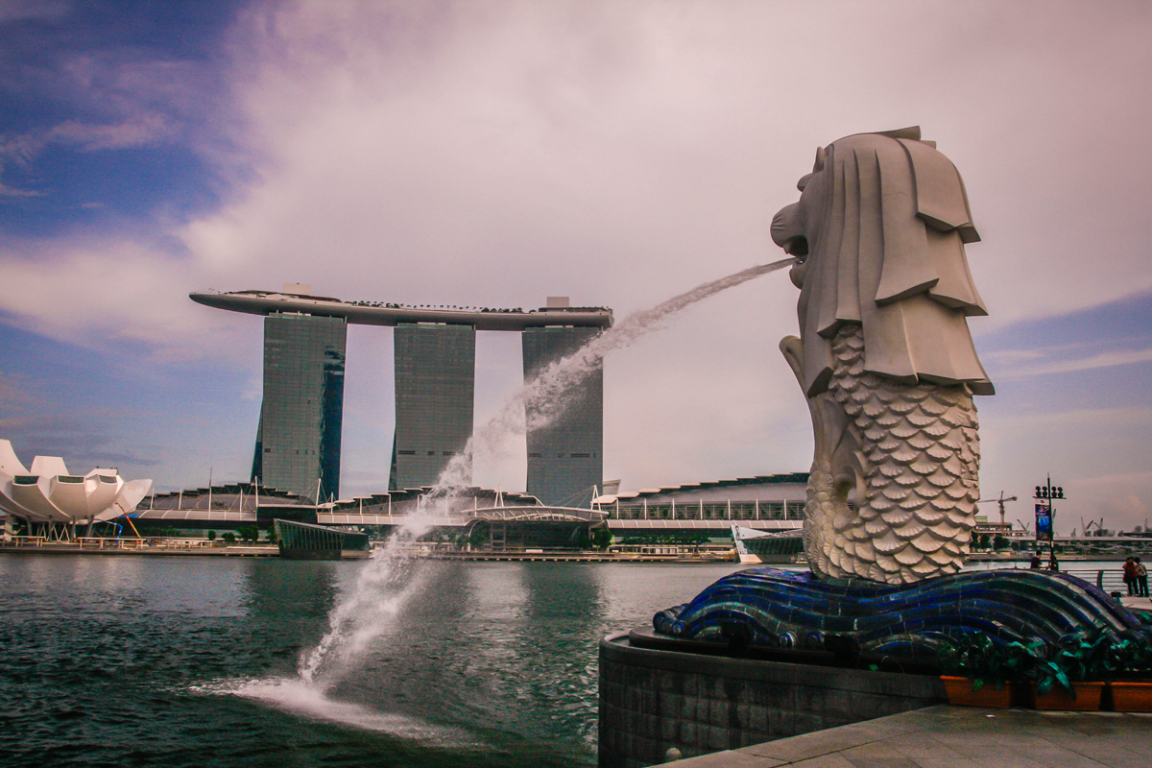 Le Merlion, le lion à queue de poisson de Singapour ©B.Cappronnier