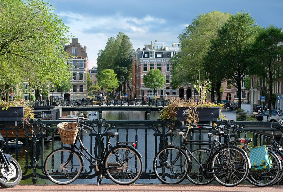 La bicyclette, transport roi à Amsterdam