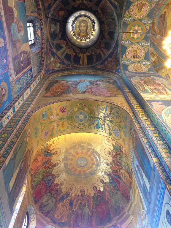 Fresques de la cathédrale Saint-Sauveur-sur-le-Sang-Versé ©I.Gressier