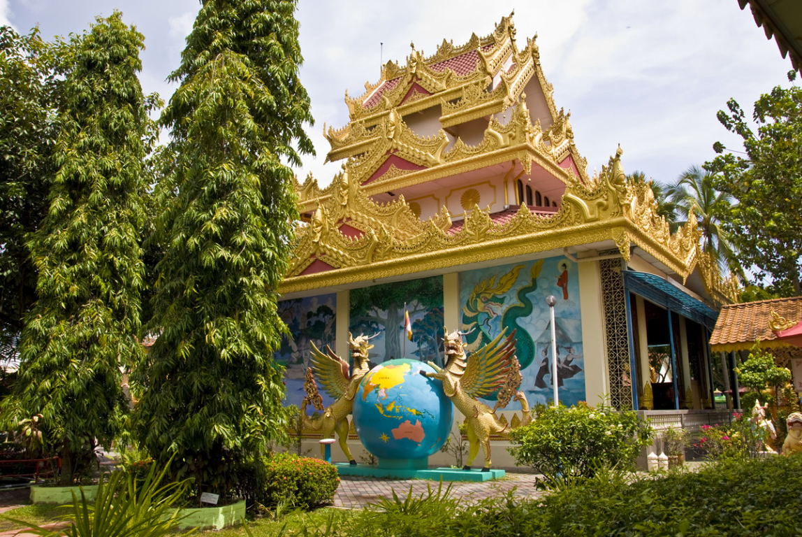 La pagode birmane Dhammikarama à Penang