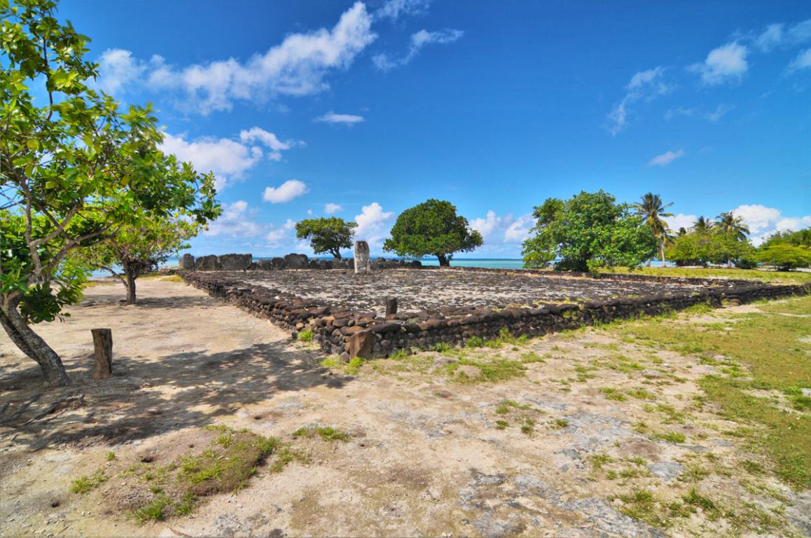 Les Marae de Taputapuatea, anciens lieux de cultes polynésiens