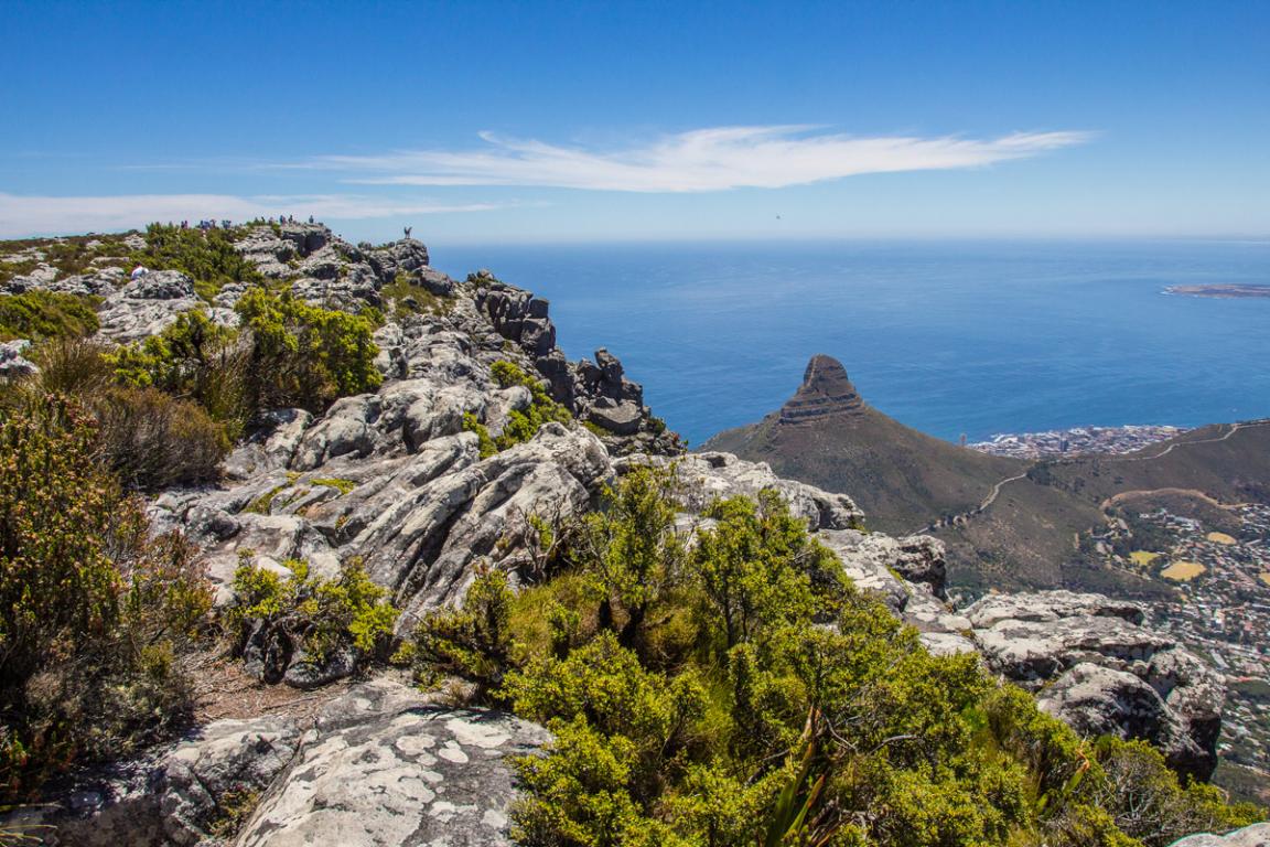 Vue du haut de la montagne de la Table ©B.Cappronnier